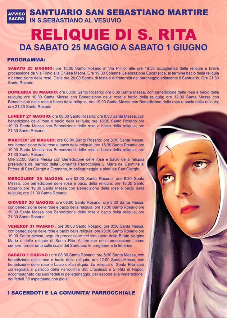 Santa Rita Giorno Calendario.Santuario S Sebastiano Martire Reliquie Di S Rita A San